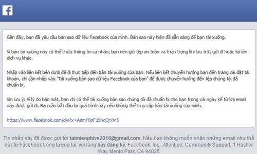 lay lai tin nhan Facebook