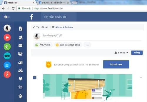 Làm mới Facebook với giao diện Flat trên máy tính, Laptop