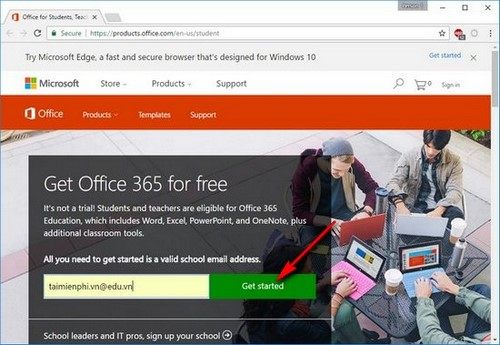 office 365 mien phi
