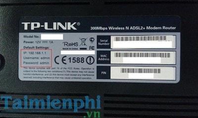 Admin và Password đăng nhập Modem TP-link, Tenda như thế nào?