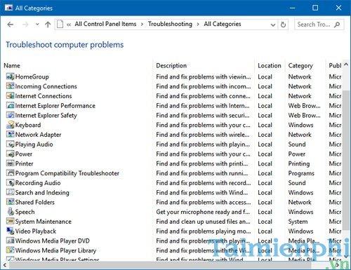 Cách tìm kiếm lỗi Windows 10 tự động 6