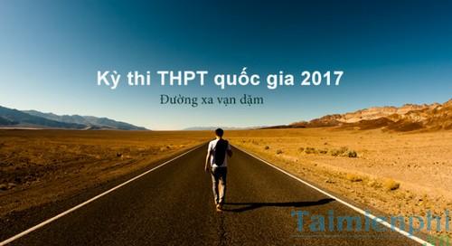 lich thi thpt quoc gia nam 2016-2017