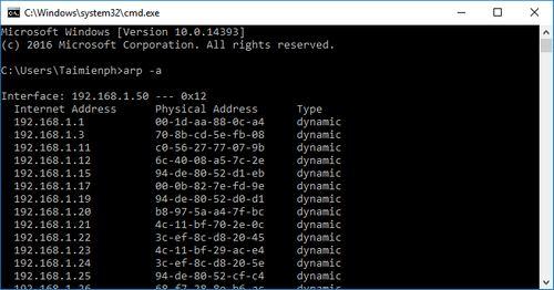 tim IP may tinh khac trong mang LAN