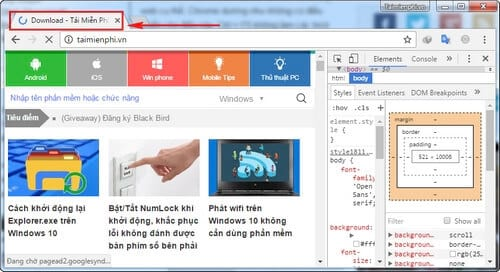 xoa cache cua website cu the tren google chrome 4