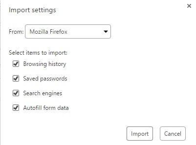 Cách Import Setting từ trình duyệt khác lên Opera Neon