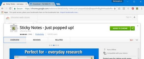 Tạo ghi chú trên Chrome, nhắc việc trực tiếp trên Google Chrome