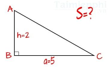 Tổng hợp cách tính, công thức tính diện tích Tam Giác Thường, Vuông, Cân, Đều 4
