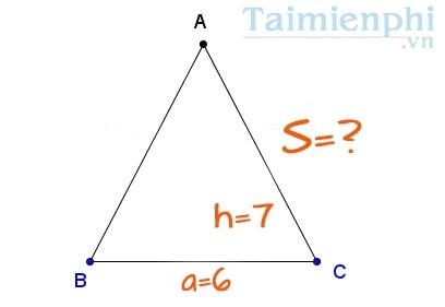 Tổng hợp cách tính, công thức tính diện tích Tam Giác Thường, Vuông, Cân, Đều 5