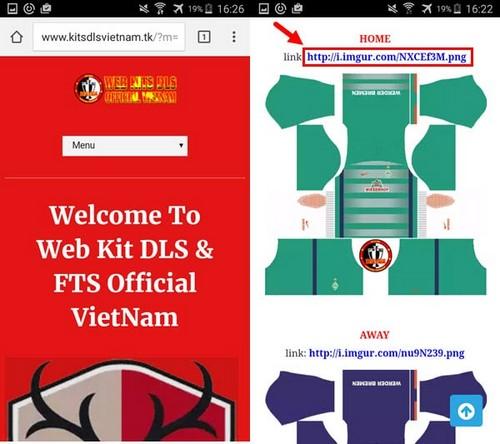 kit dream league soccer 2019 viet nam