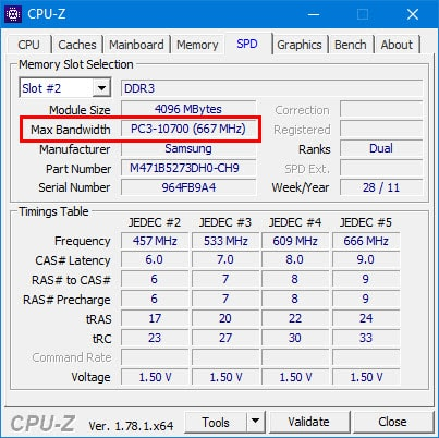Cách xem BUS của RAM, MAIN, CPU máy tính, laptop bằng CPU-Z 2