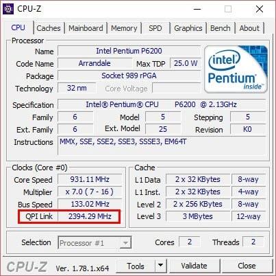 Cách xem BUS của RAM, MAIN, CPU máy tính, laptop bằng CPU-Z 5
