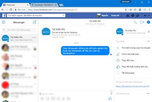 Facebook Messenger cho PC, Chat và nhắn tin Facebook trên máy tính, laptop