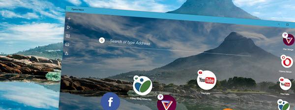 Cách download ảnh chụp từ Opera Neon, thư mục chứa ảnh chụp của Opera Neon
