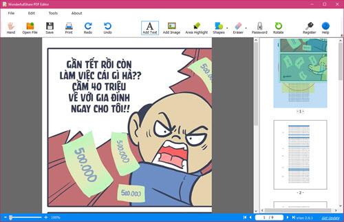 (Giveaway) Wonderfulshare PDF Editor PRO, Chỉnh sửa PDF trực tiếp