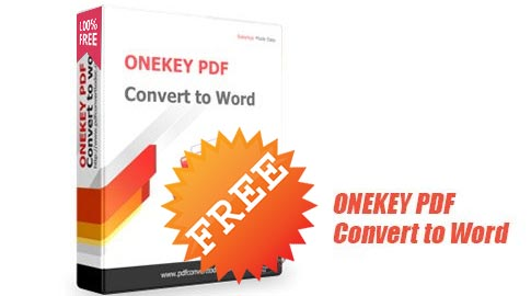 giveaway onekey PDF convert to word