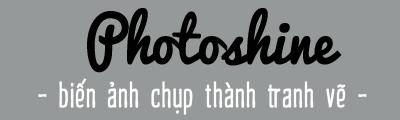 Hô biến ảnh chụp thành tranh vẽ trên Photoshine