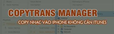 copy nhac vao iphone bang copytrans manager