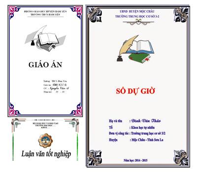 download mau bia giao an luan van bao cao dep trong word