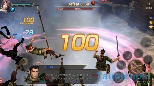 dynasty warrior choi game tam quoc tren dien thoai android iphone ipad 3