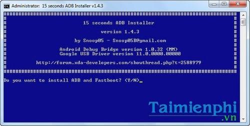 Cài đặt và thiết lập Fastboot, ADB/USB Driver trên điện thoại Android, Samsung, Oppo, HTC 2