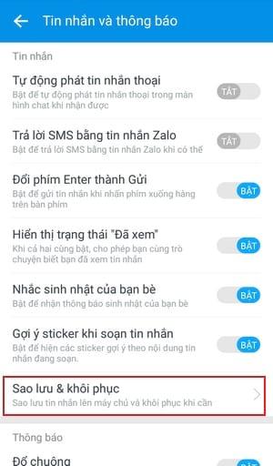 Cách lấy lại tin nhắn Zalo, khôi phục tin nhắn Zalo bị xóa 19
