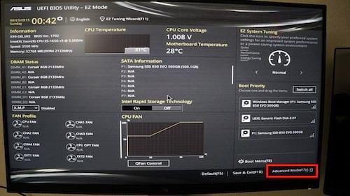 Bật, tắt Secure Boot thông qua Asus Uefi Bios