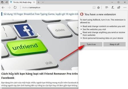 Hướng dẫn cài đặt Extension trên Microsoft Edge, cài phần mở rộng trên Edge