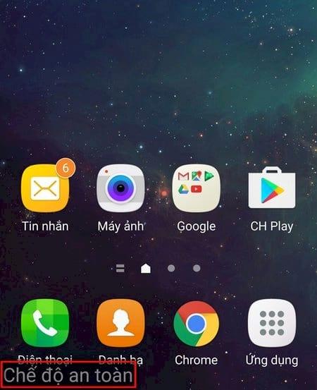 Cách bật/ tắt chế độ an toàn Safe mode trên điện thoại Android