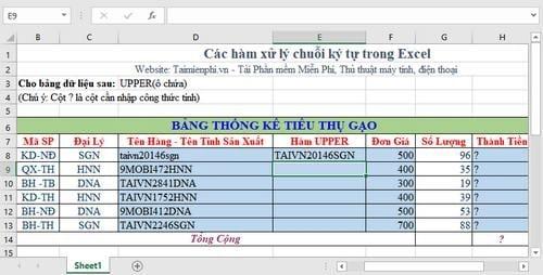 Tổng hợp các hàm xử lý chuỗi ký tự trong Excel, cú pháp và ví dụ 5