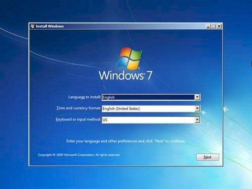 sua loi 0x80070057 khi format o cung de cai windows 7
