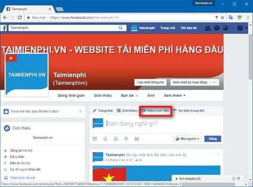cach phat live stream video facebook tren may tinh khong can cai them obs