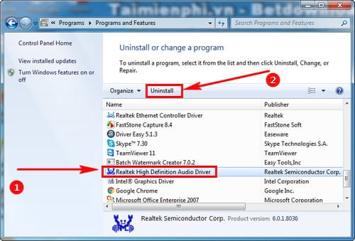 Cách sửa lỗi Realtek HD Audio Manager has stopped working khi khởi độn