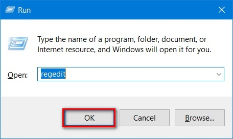 cach mo Registry Editor tren windows 10