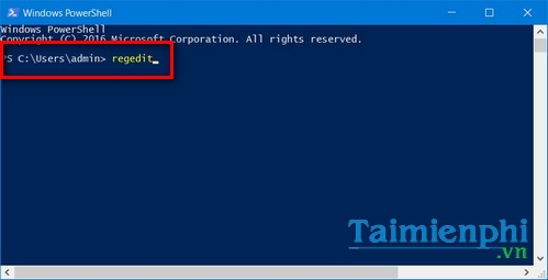 vao mo registry editor tren windows 10