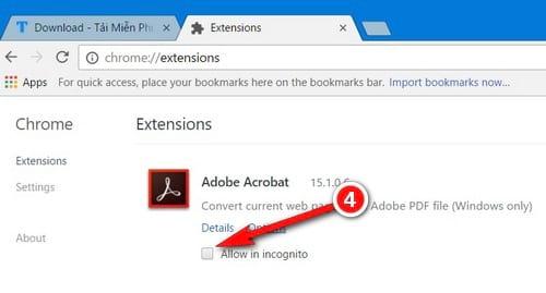 Hướng dẫn kích hoạt extension trong chế độ ẩn danh trên Google Chrome