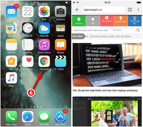 khoa truy cap tren iPhone