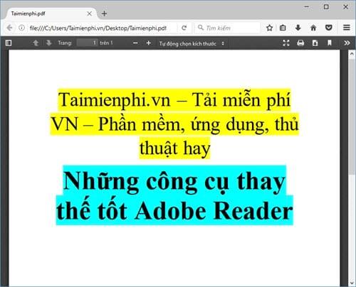 nhung cong cu thay the tot adobe reader 3