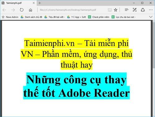 nhung cong cu thay the tot adobe reader 4
