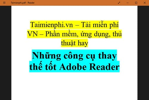 nhung cong cu thay the tot adobe reader 5