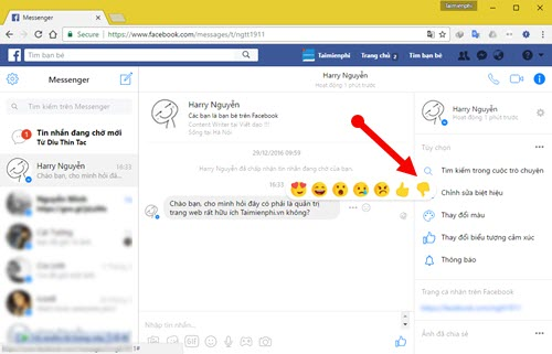 su dung nut dislike tren facebook messenger 9