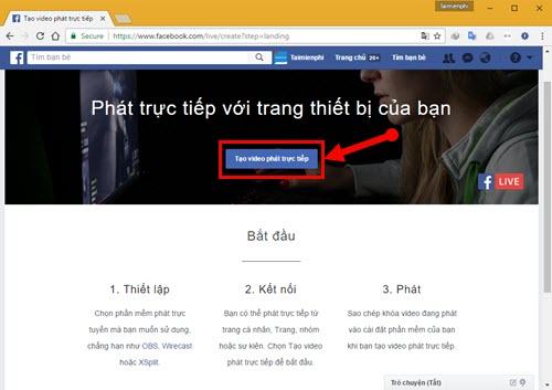 Facebook ra mắt tính năng phát video trực tiếp từ máy tính