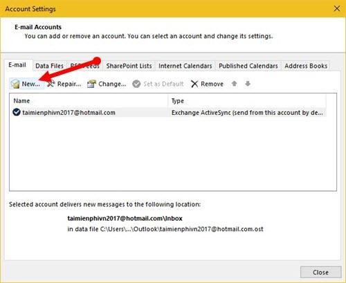 Cách cấu hình dịch vụ Gmail trong Outlook 2016, 2013, 2010, 2007, 2003