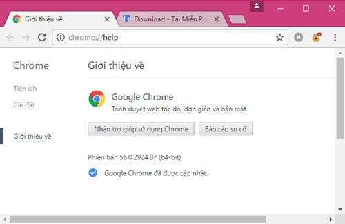 sua loi code 7: 0x80040905 khi cap nhat Google Chrome