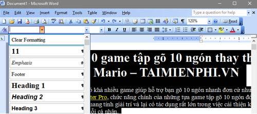 Cách tạo mục lục tự động trong Word 26