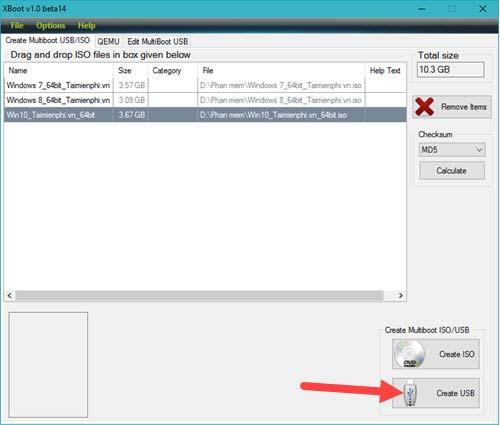 Hướng dẫn tạo USB boot đa chức năng, chứa nhiều hệ điều hành bằng XBoot 4