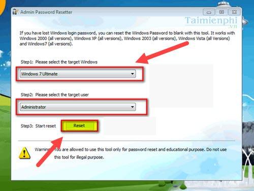Password resetter