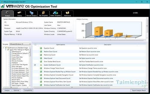 toi uu hoa windows 10 bang vmware os optimization tool