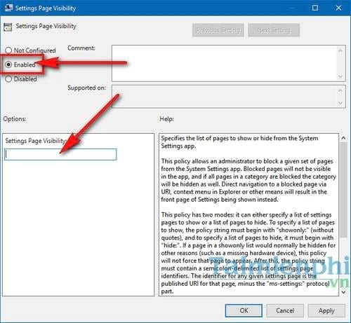 cach an settings pages tren windows 10 creators update 4