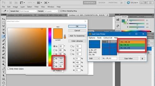 Tìm và tạo bảng màu với Just Color Picker