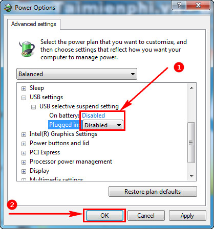 The computer automatically connects to your USB 7